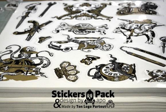 Stickers pack, teeshirt & poster TON LOGO PARTOUT